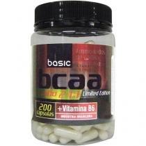 BCAA 2:1:1 + Vitamina B6 200 Cápsulas - Basic Nutrition