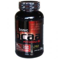 BCAA 2:1:1 + Vitamina B6 240 Cápsulas - Basic Nutrition