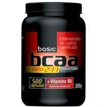 BCAA 2:1:1 + Vitamina B6 500 Cápsulas - Basic Nutrition