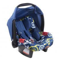 Bebê conforto Burigotto Touring Evolution azul bike Para crianças até 13kg -