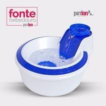 Bebedouro Automático para Gatos e Cães - Fonte de Água Azul - Petlon