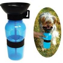Bebedouro Garrafa Aqua Dog  Portatil Para Viagem Com o Pet e caes    Cor Azul - Rpc