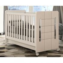 Berço Cama Plus Amor de Bebê Bambinello Branco Brilho -