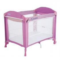 Berço e Cercado para Bebê Burigotto com Regulagem de Altura Luna - Pink - Burigotto