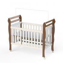 Berço infantil mini cama Bella Amadeirado Carolina Baby - Carolina Baby