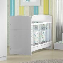 Berço mini cama 0504 para colchão 133 x 68,50 cm branco brilho - Multimóveis
