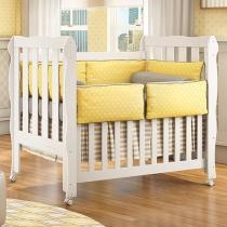 Berço/Mini Cama Grade Removível Rodízios - 3 Níveis de Altura Carolina Baby Lila