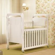 Berço/Mini Cama Grade Removível Rodízios - 3 Níveis de Altura Carolina Baby Nanda