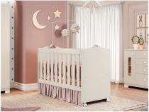 Berço Móveis Estrela Sonhos 202048728 - 2 Níveis de Altura para Crianças até 25Kg