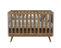 Berço Retrô Teka com Cinza e Eco Wood - Matic Móveis - Matic Móveis