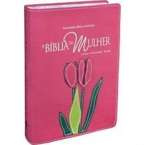 Biblia Da Mulher, A - Bordas Floridas - Rosa - Sbb - 953083