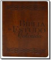 Biblia de estudo colorida - capa marrom - Bv films