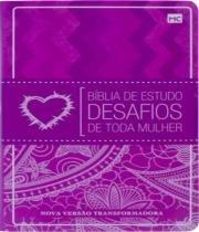 Biblia De Estudo Desafios De Toda Mulher - Capa Rosa - 02 Ed - Mundo cristao