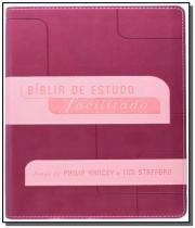 Biblia de estudo facilitado - rosa - Mundo cristao