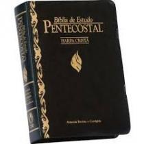 Biblia De Estudo Pentecostal Com Harpa Pequena Preta - Cpad - 1