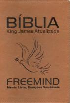 Biblia King James Atualizada - Capa Luxo Caramelo Com Letra Marrom - Abba Press - 952377
