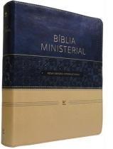 Biblia Ministerial Nvi - Azul E Bege - Vida - 952698