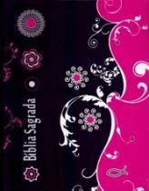 Biblia Sagrada - Bloco De Anotacao E Stickers - Capa Dura Preta E Rosa - Sbb - 1