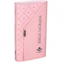 Biblia Sagrada - Carteira Cor Rosa - Sbb 953083