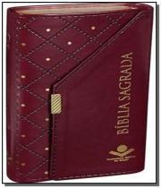 Biblia sagrada - carteira cor vinho - sbb - Sbb - sociedade biblia do brasil