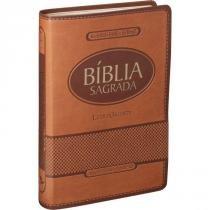 Biblia Sagrada Letra Gigante - Capa Marrom Claro - Socied. biblica do brasil(sbb)