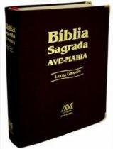 Bíblia Sagrada Letra Grande Preta sem Zíper - Ave maria