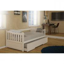 Bicama madeira maciça branco exclusivo - Housin