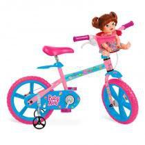 """Bicicleta 14"""" Baby Alive - Bandeirante - Brinquedos Bandeirante"""