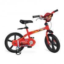 "Bicicleta 14"" Cars Disney - Bandeirante - Brinquedos Bandeirante"