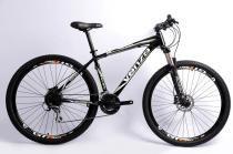 Bicicleta 2.7 Aro 29 Freios a Disco Hidraulico 27 Velocidades Preto/Verde - Venzo Talon -