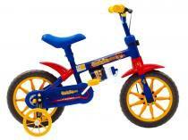 Bicicleta a12 kids fischer azul e amarela - Fischer
