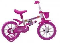 Bicicleta A12 Kids Fischer Rosa e Branca -