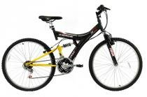 Bicicleta a26 18 marchas full tb100 track bike preta - Tk3
