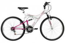 Bicicleta a26 18 marchas full tb200 track bike branca - Tk3