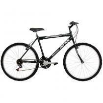 Bicicleta Aço Carbono Jaws Rígida 21 V Aro 26 Preto Fosco - Mormaii - Mormaii