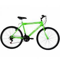 Bicicleta Aço Carbono Jaws Rígida 21 V Aro 26 Verde Neon - Mormaii - Mormaii