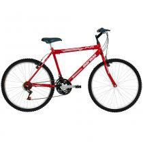Bicicleta Aço Carbono Jaws Rígida 21 V Aro 26 Vermelha - Mormaii - Mormaii