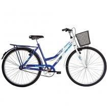 Bicicleta Aço Carbono Soberana FF Aro 26 Azul/Branca - Mormaii - Mormaii