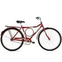 Bicicleta Aço Carbono Valente CP Aro 26 Vermelha - Mormaii - Mormaii