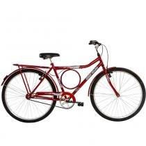 Bicicleta Aço Carbono Valente FF Aro 26 Vermelha - Mormaii - Mormaii