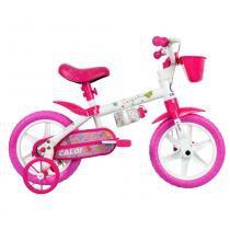 Bicicleta ARO 12 - Cecizinha - Rosa e Branca - Caloi - Caloi