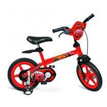 Bicicleta Aro 12 com Rodinhas Disney Carros - Bandeirante -