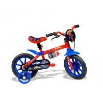 Bicicleta Aro 12 com Rodinhas Homem Aranha - Caloi -