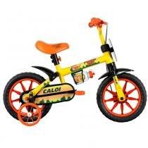 Bicicleta ARO 12 - Power Rex - Amarela - Caloi - Caloi