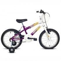 Bicicleta Aro 16 Brave Branca/violeta Verden -