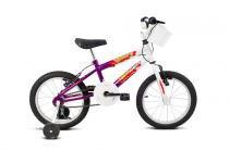 Bicicleta Aro 16 Brave Branco e Violeta - Verdan - Outras Marcas