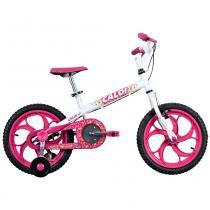 Bicicleta ARO 16 - Ceci - Rosa e Branca - Caloi - Caloi