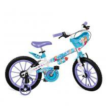 Bicicleta Aro 16 com Cestinha Frozen - Bandeirante -