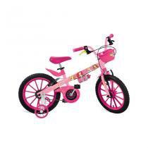 Bicicleta Aro 16 com Rodinhas e Cestinha Princesas Disney - Bandeirantes -