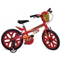 Bicicleta Aro 16 com Rodinhas Homem de Ferro Vingadores - Bandeirante -